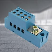 QFJ6/JHSD-4 Single Phase 1 in 4 out Electric Row Terminal Measuring Connecting Junction Box waterproof DIY junction case