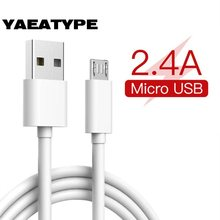 Micro Usb Charging Cable Usb Micro Charger Cord 2M Microusb Kabel for Xiaomi Redmi Note 6 5 Pro 4 Powerbank Charge Cables(China)