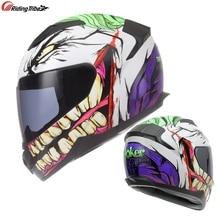 Joker Cosplay Helmet Motorcycle Off-road Professional Full Face Racing