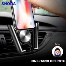 Shoda suporte do telefone do carro para o telefone móvel suporte de ventilação de ar montagem berço universal auto clipe de ventilação de ar suporte de telefone celular gps