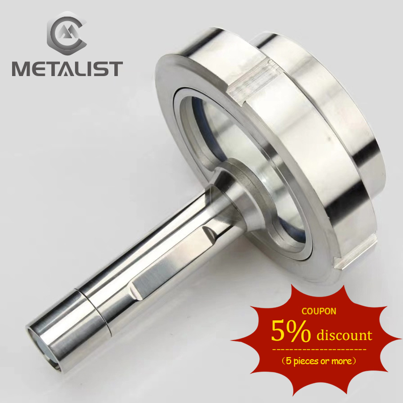 METALIST DN100 Sanitary Sight Glass SS304 Welded Observation Sight Glass Hole With Flashlight