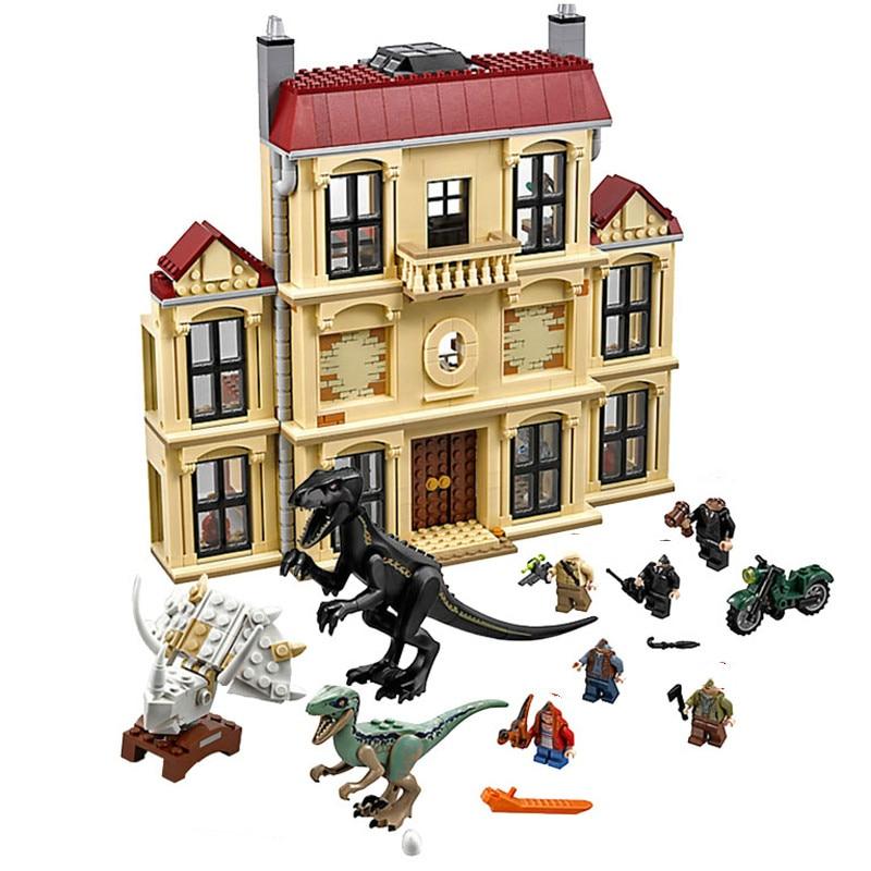 Compatible Legoinglys Jurassic World 2 Dinosaur Blocks Toys Dinosaur Indoraptor Rampage Building Blocks Toys For Children