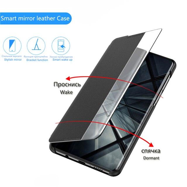 Smart View Flip Case For Huawei P40 Pro P20 P30 Y5 Y6 Y7 Y9 Prime 2019 P smart Z PIus Mate 30 20 10 Lite Honor 9X Pro 8X Cover 2