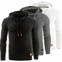 Suéter casual de malha com capuz masculino  blusão de algodão quente para outono e inverno  tamanho grande  2019 5xl