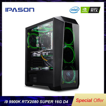 IPASON Powerful Gaming Computer Intel 9th Gen Core I9 9900K RTX2080 Super 8G Graphics Card High Performance Gaming Desktop PC 1
