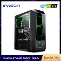 IPASON Powerful Gaming Computer Intel 9th Gen Core I9 9900K RTX2080 Super 8G Graphics Card High Performance Gaming Desktop PC
