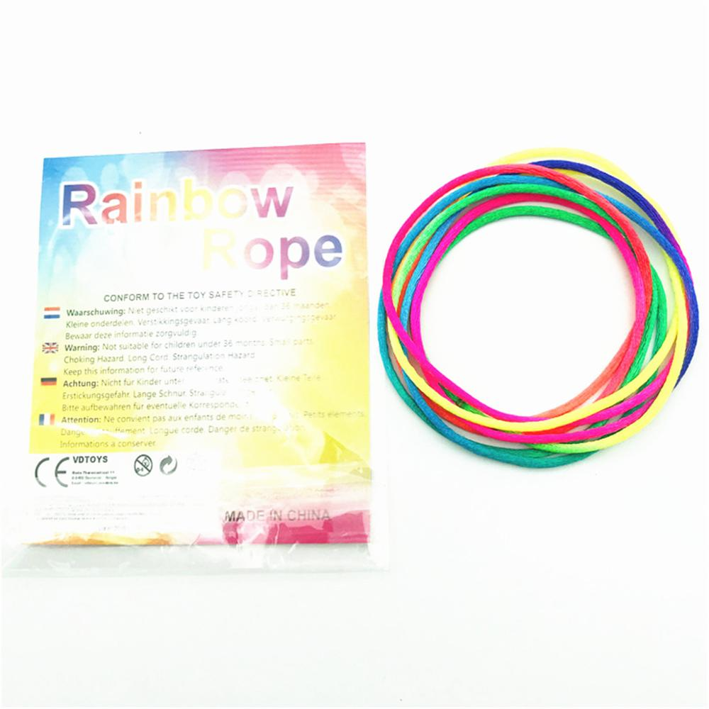 3PCS Kids Rainbow Colour Fumble Finger Thread Rope String Game Developmental Toy Puzzle Educational Game For Children Kids