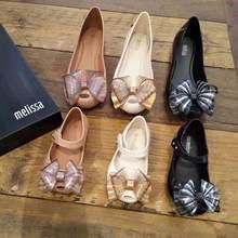 Novo 2021 mini melissa geléia sapatos bowtie mamãe e me sapatos doces menina pvc arco princesa geléia sapatos melissa sandálias sh19113
