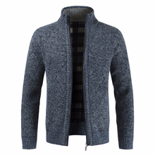 Men Thick New Fashion Business Casual Sweater Cardigan Men B