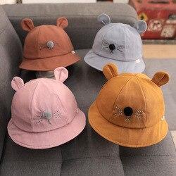 Осень 2020, милая шапка с мультяшными рисунками для новорожденных, тонкая шапка для девочек, повседневная детская шапка для 6-18 месяцев, шапка ...