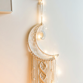 Macrame Wall Hanging Handmade Bohemian Chic Woven Tapestry Home Art Decor 2