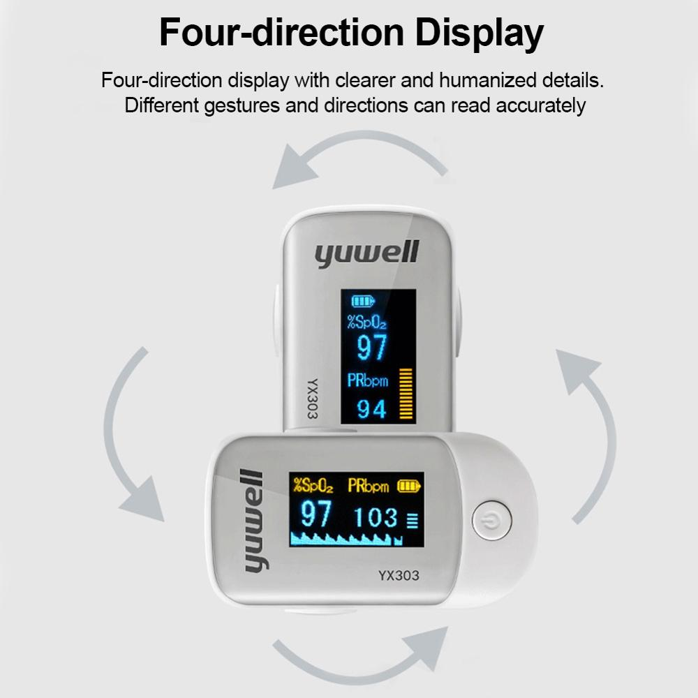 Medical Heart Rate Monitoring Fingertip Pulse Oximeter with OLED Display and Auto Shut Down