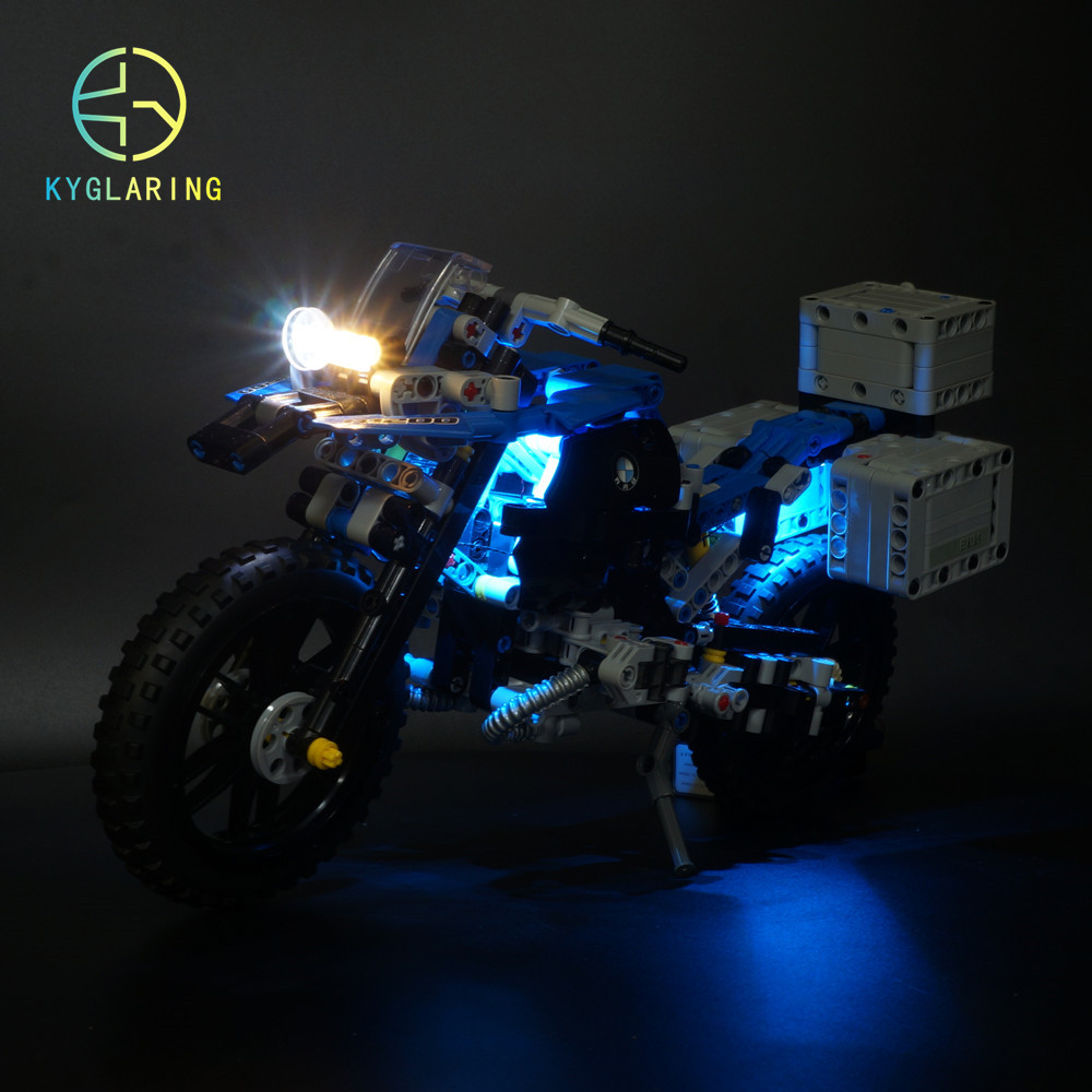 Kyglairng led light kit for <font><b>LEGO</b></font> For <font><b>42063</b></font> Technic series Motorcycles Model Building Blocks (only light included) image