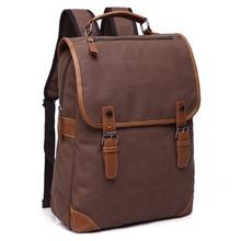 Quality Canvas Backpack unisex solid color black Laptop bag  Superior grade Vintage design Durable New Trend Amazon same style