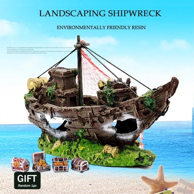 Sunken Pirate Shipwreck Aquarium Landscaping  1