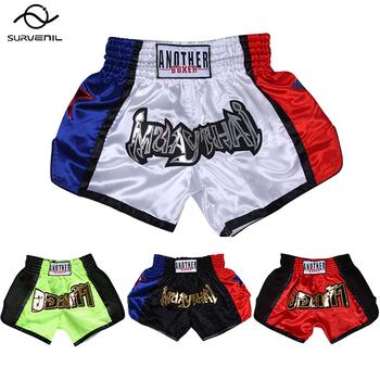 Męskie spodnie bokserskie kick-Boxing krótki tygrys spodenki bokserskie Muay Thai dla dorosłych dzieci Sanda ubrania tanie MMA zmagają się męskie spodenki sportowe XXXL tanie i dobre opinie SURVENIL CN (pochodzenie) POLIESTER trunks boxing shorts Dobrze pasuje do rozmiaru wybierz swój normalny rozmiar Zwierząt