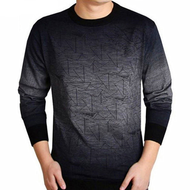Cashmere Sweater Men Brand Clothing Mens Sweaters Print Casual Shirt Autumn Wool Pullover Men O-Neck Pull Homme Top J872