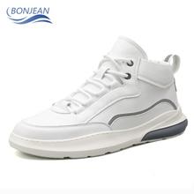 Высокие BONJEAN скейтбординга хип-хоп обувь для ходьбы молодежи минималистский уличный обувь повседневная открытый удобная