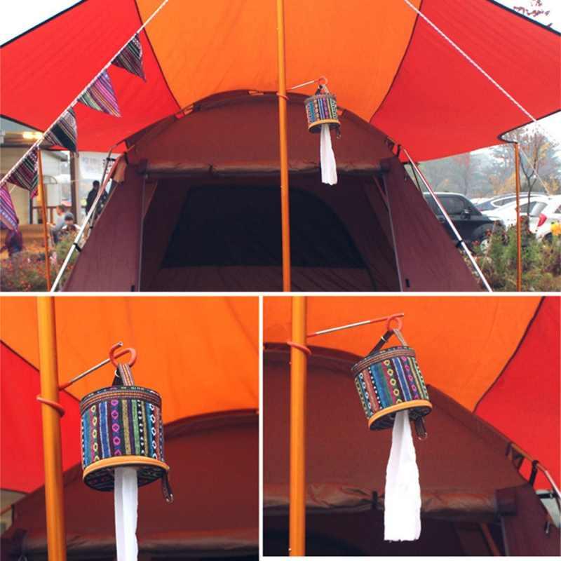 Outdoor Camping Folding Tray Nasional Kincir Angin Roll Kertas Tissue Kotak Penyimpanan Tas Tas Kecil Disesuaikan Terbuka Gadget