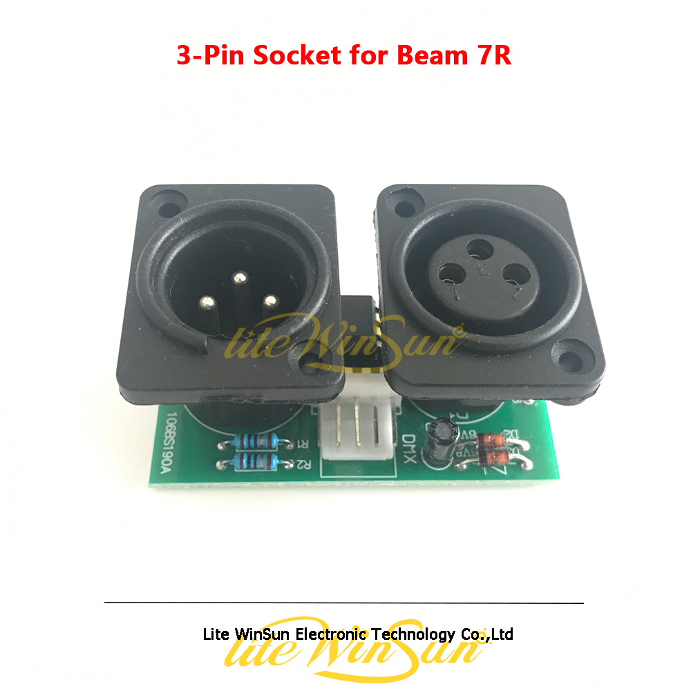 3-Pin DMX Signal Socket Input Output Board For Beam 5R 7R Beam Moving Head Stage Light Parts