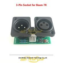 3-контактный разъем сигнала DMX, входная Выходная плата для Луча 5R 7R, сценический светильник с подвижной головкой, детали