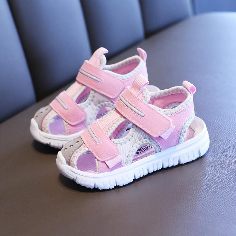 Summer baby sandals for girls boys soft bottom cloth children shoes fashion little kids beach sandals toddler shoes 3