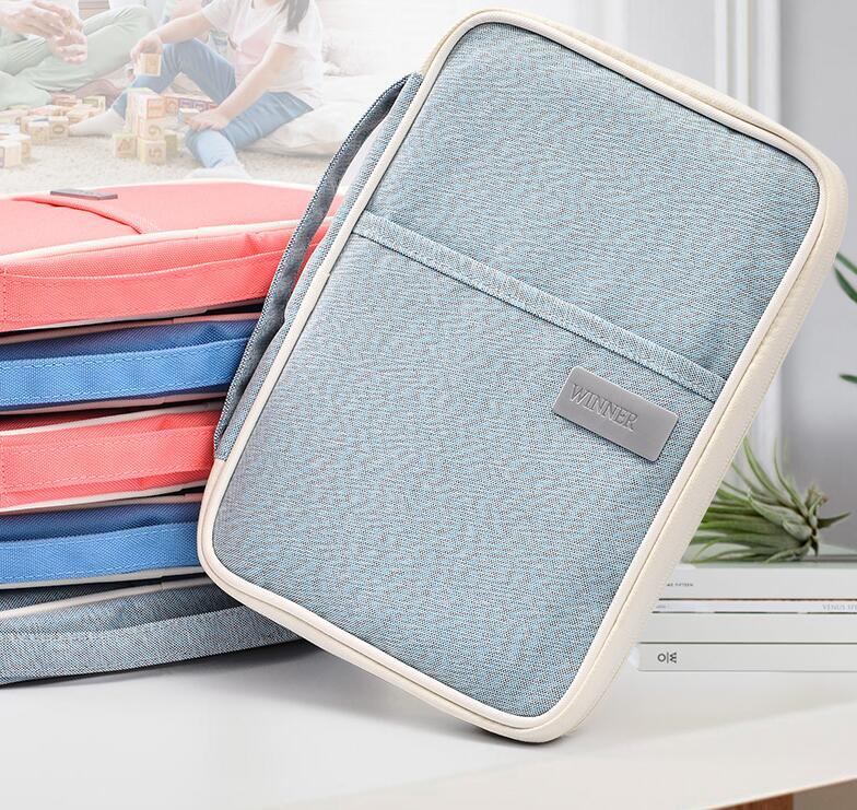 Baby Medical Record Card Storage Bag Pregnant Women Checkup Information Document Bag Portable Multi-function File Travel Bag