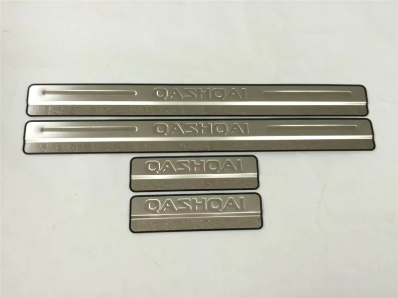 Car <font><b>Accessories</b></font> For <font><b>Nissan</b></font> <font><b>Qashqai</b></font> J11 Door Sill Scuff Plate Stainless Steel Door Sills Pedal Sticker <font><b>2014</b></font> to 2018 image
