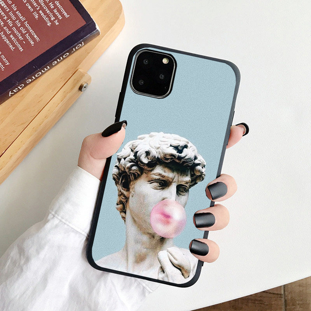Phone Case For iPhone XR Case Soft TPU Back Cover For iPhone XS 11Pro Max X 10 8 7 6 6S Plus 5 5S SE Mona Lisa Capa Fundas David