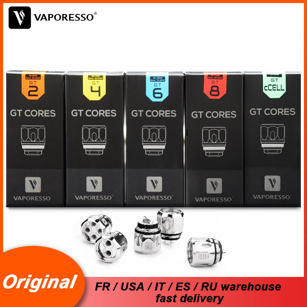 3pcs/lot Original Vaporesso Atomizer Core Coil GT2 GT4 GT6 GT82 GT Meshed For SKRR NRG Tank Gen Polar Swag LUXE Revenger Kit