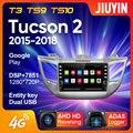 JIUYIN для Hyundai Tucson 2 2015 - 2018 автомобильный Радио мультимедийный видео плеер навигация GPS Android No 2din 2 din dvd