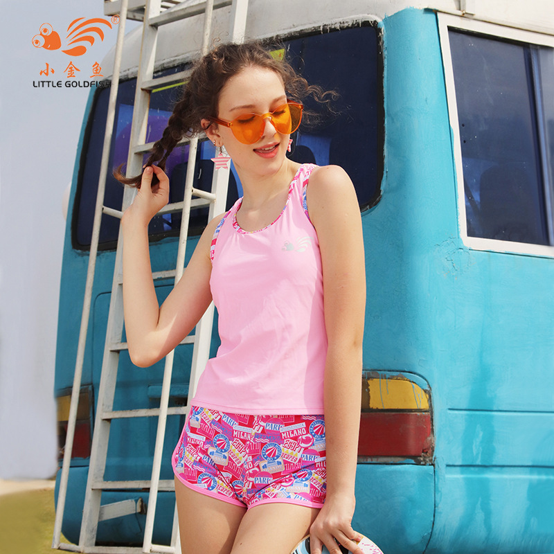 2018 KID'S Swimwear Sports Swimwear Girls Bikini Floral-Print Boxers Tour Bathing Suit Foreign Trade Manufacturers Wholesale