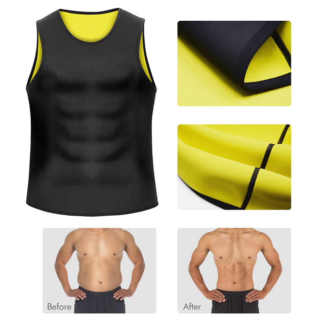 Hot Body Shaper Men Sweat Shirt Men Bodysuit Slimming Belt For Men Neoprene Body Shaper Vest Sauna Suit Pants Corsets Bodysuit 2