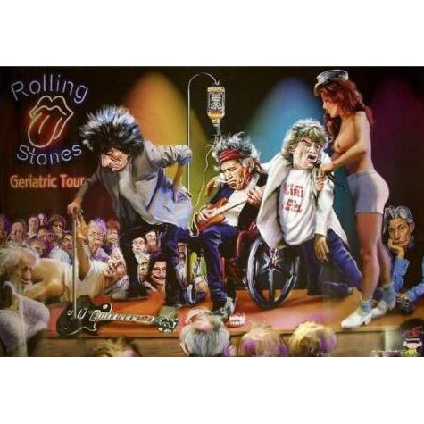 Rolling Stones Geriatric Tour Poster Wall Stickers Aliexpress