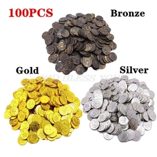 Poker-Chips Coin Game Casino Treasure Plastic 100pcs Pirate Gold-Plating