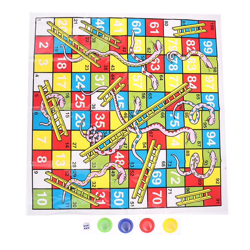 Snake Ladder Educational Kids Children Toys Interesting Board Game Set Portable Flying Chess Board Family Board Game