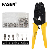 HS-03BC/SN-48B 270PCS Crimping pliers with plug spring terminals mini crimper wire for 6.3/4.8/2.8mm² terminal kit hand tool set цены