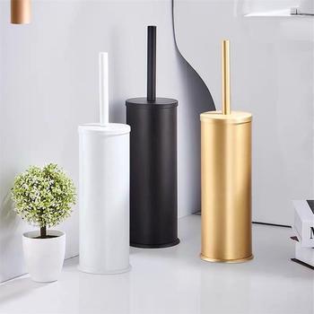 Luksusowa złota czarna aluminiowa szczotka do wc zestaw świeczników szczoteczka do czyszczenia łazienki podłogowa stojąca łazienka organizacja przechowywania towarów tanie i dobre opinie YILANYUNCHUANG CN (pochodzenie) Toilet brush Ekologiczne Space aluminum