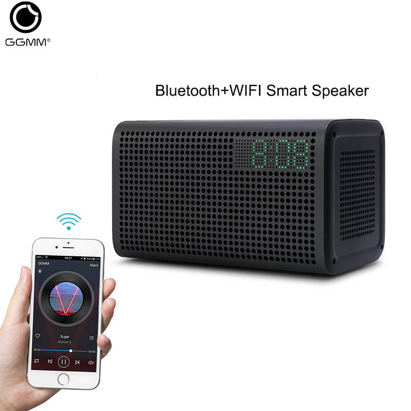 GGMM E3 Bluetooth Speaker 20W Powerful <font><b>HiFi</b></font> Soundbar Support WIFI AUX Connect Self Setting Column 3D Digital Boombox loudspeaker image