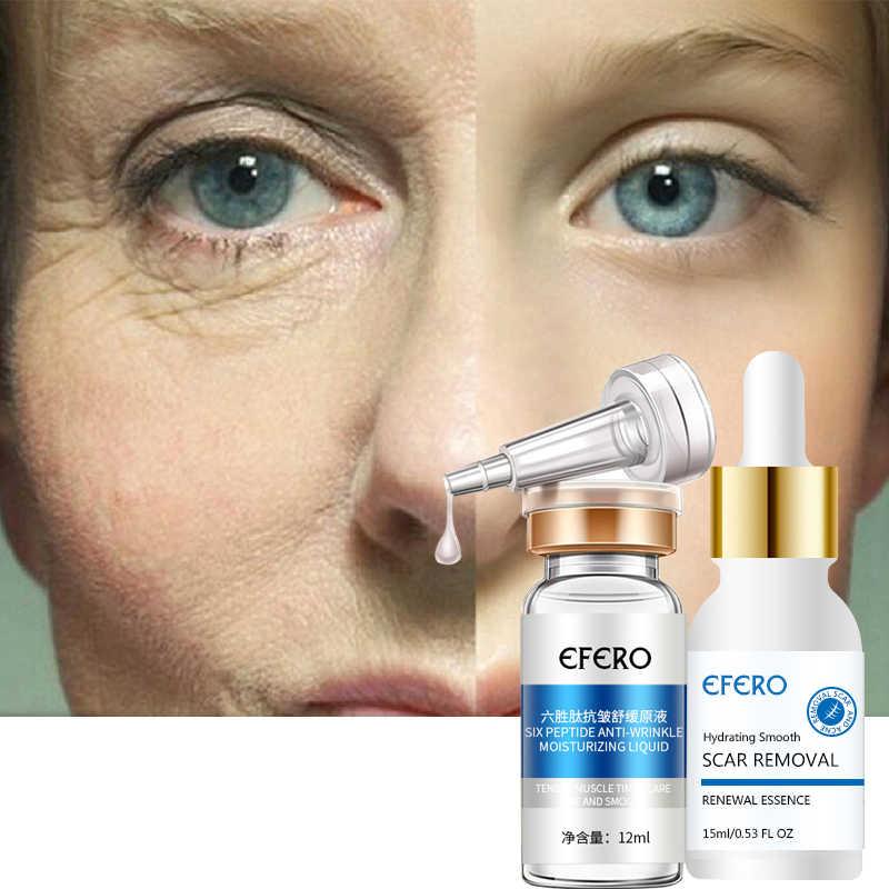Efero ستة الببتيدات مصل ل كريم وجه مكافحة التجاعيد الشيخوخة الهيالورونيك جوهر كريم تبييض ترطيب العناية بالبشرة