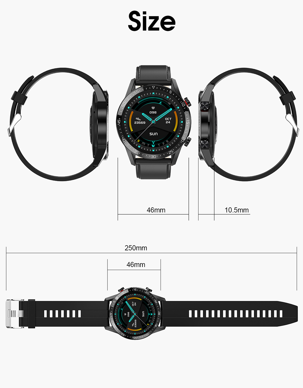 bluetooth chamada smartwatch android ecg relógio inteligente homem