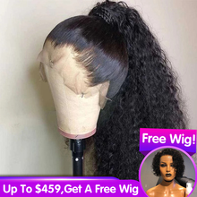 Curly Wig 360 Lace Frontal Wig Pre Plucked With Baby Hair Br