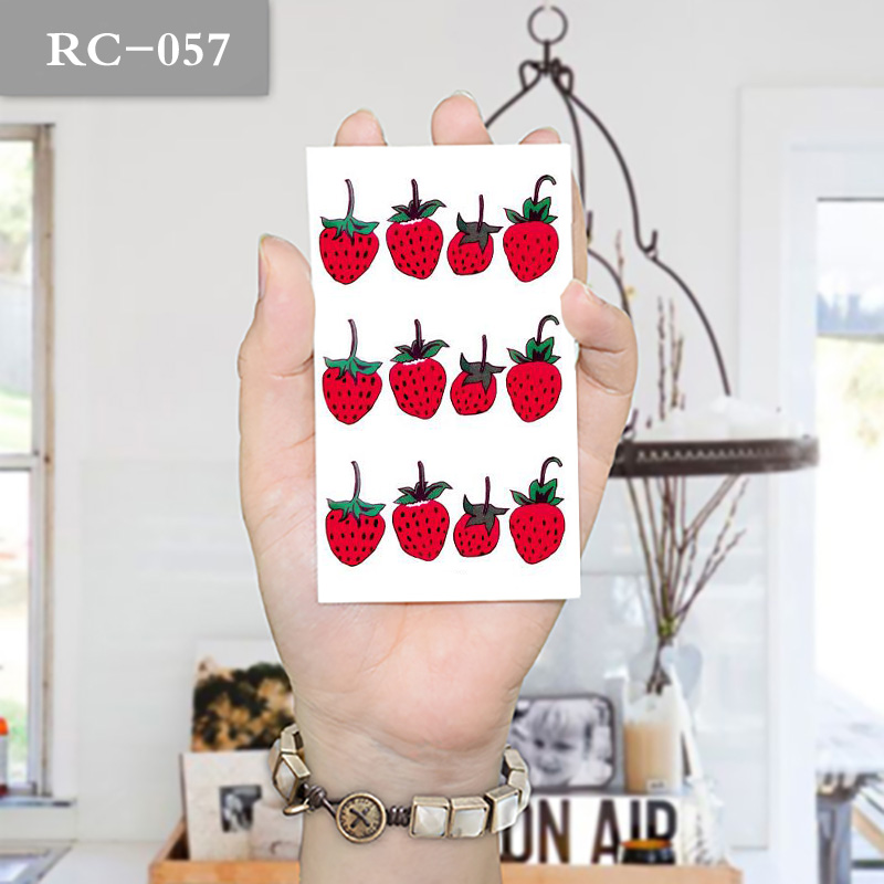 10x6cm Temporary Fruit Strawberry Cute Waterproof Tattoo