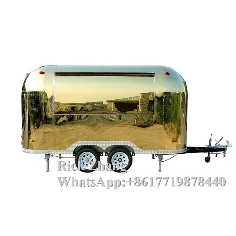 Fully Equipped Deep Fryer Snack /street Food Trailer/cart/truck With Good Quality Cooking Equipment