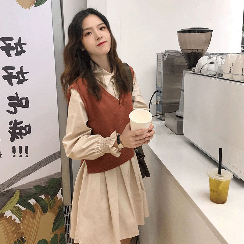 Early Autumn WOMEN'S Suit High Cold Royal Sister-Style Western Style By Age Autumn Clothing Collocation High-Style Waistcoat Two