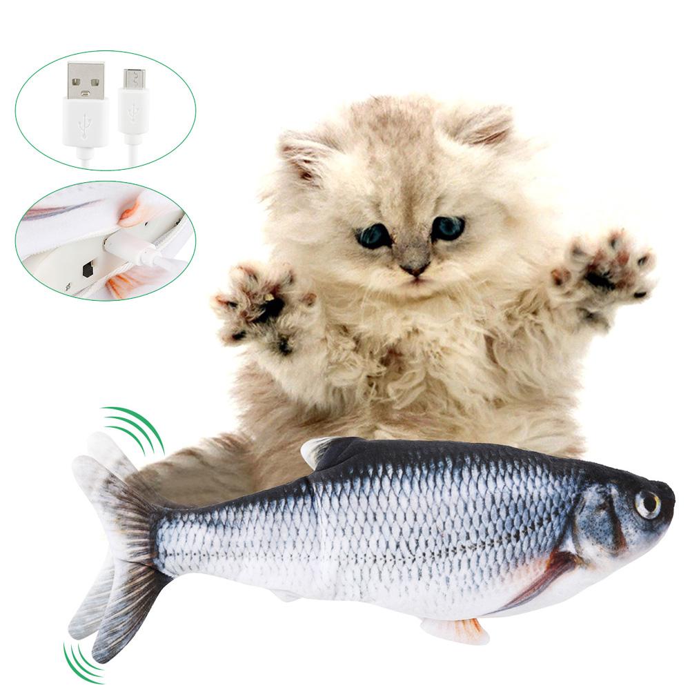 Electric Cat Toy 3D Fish USB Charging Simulation Fish Interactive Cat Toys for Cats Pet Toy cat supplies juguetes para gatos