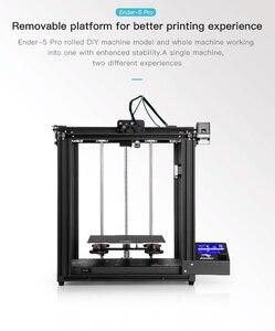 Image 3 - Creality Ender 5/Ender 5 pro impressora 3d diy kit 220*220*300mm construir volume com atualização silencioso placa mãe ptfe tubo extrusora