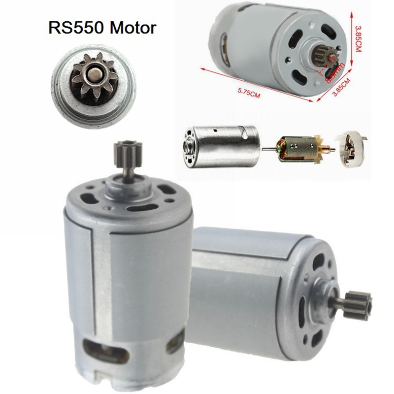 RS550 DC Motor 12 Teeth 9 Teeth 10.8V 12V 14.4V 16.8V 18V 21V 25VGear 3mm Shaft For Cordless Charge Drill Screwdriver tool drill image