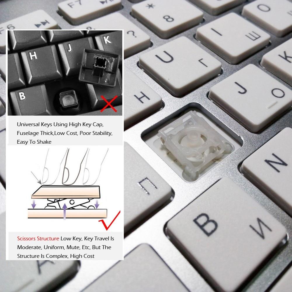 Mini Wireless Keyboard And Mouse Combo Kit Keypad Ultra-Slim Portable Multi-media Mouse Keyboard For Laptop Mac Desktop PC TV-3
