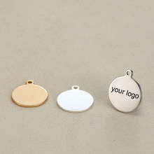 Blank 10mm Round Custom Tag Stainless Steel Charms Engrave your own logo